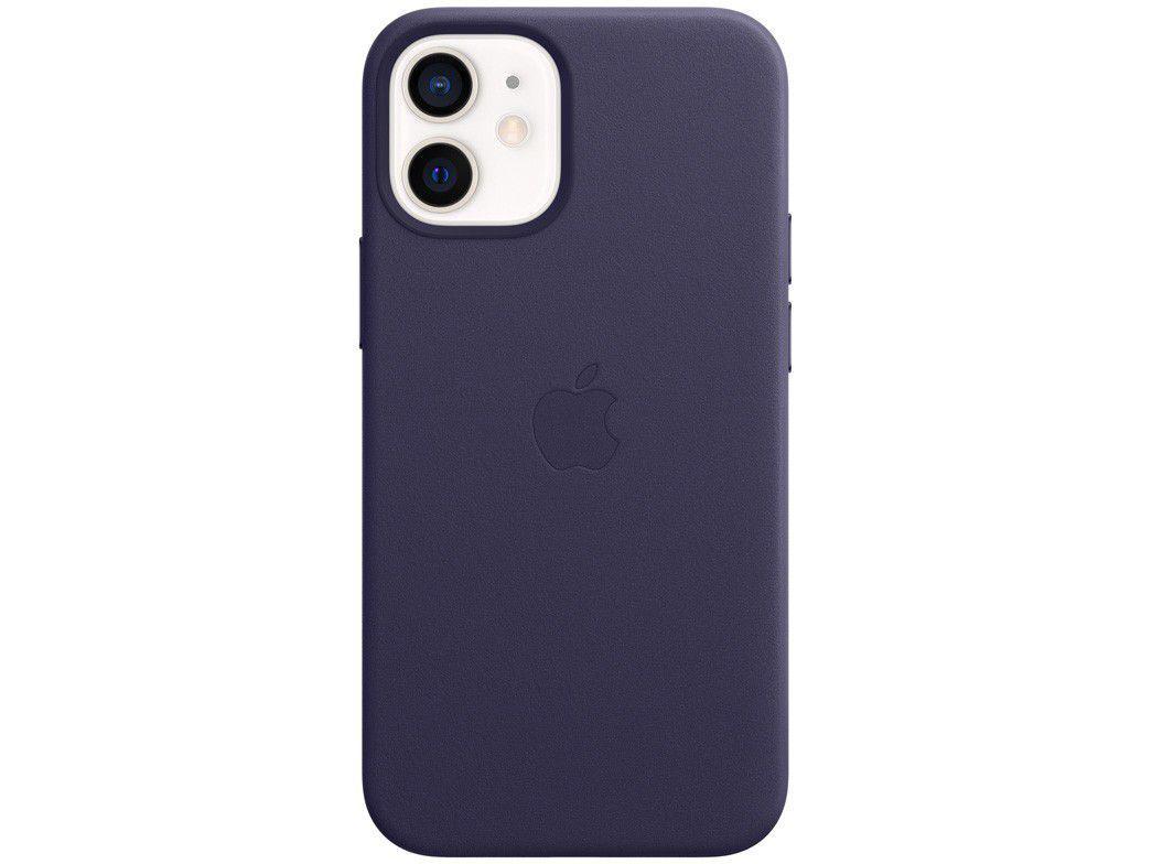 Capa de Celular para iPhone 12 Mini Couro - Apple Violeta Profundo Original