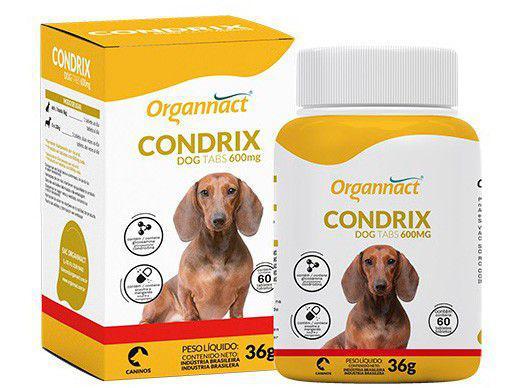 Suplemento Organnact Condrix Dog Tabs - para Cachorro 36g