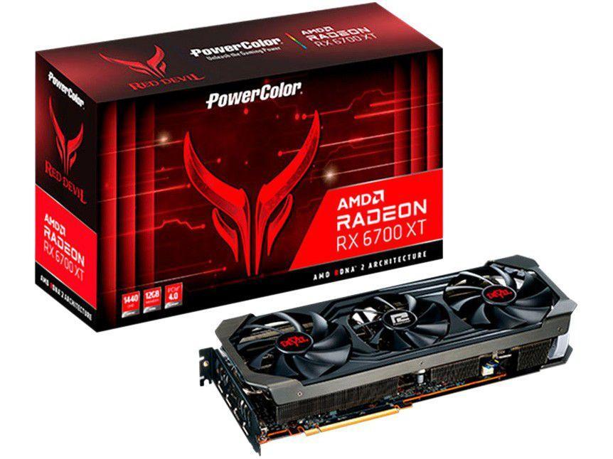 Placa de Vídeo Power Color Radeon RX 6700 XT - 12GB GDDR6 192 bits Red Devil