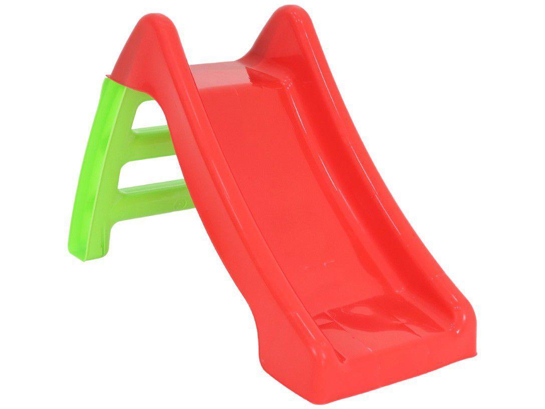Escorregador Infantil Pequeno 2 Degraus - Bel Fix 560300 Vermelho e Verde