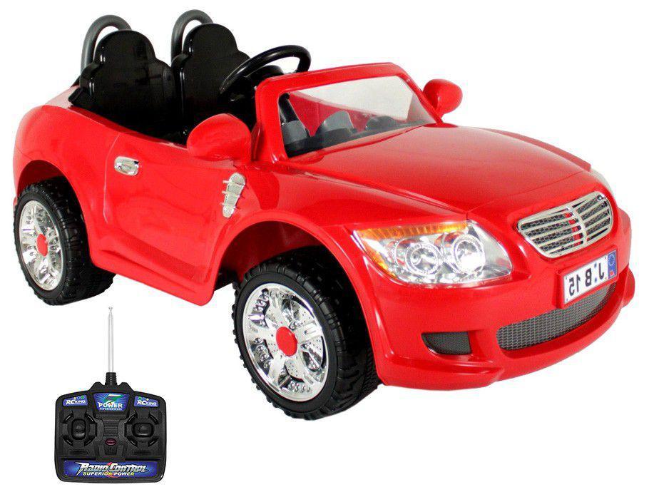 Carro Elétrico Infantil Vermelho Bel Fix - Conversível B-15 12V com Controle Remoto
