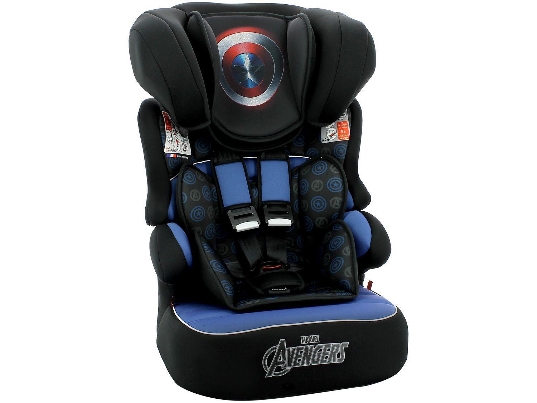 Cadeirinha para Auto Team Tex Marvel - Beline Luxe Capitão América 9 a 36kg