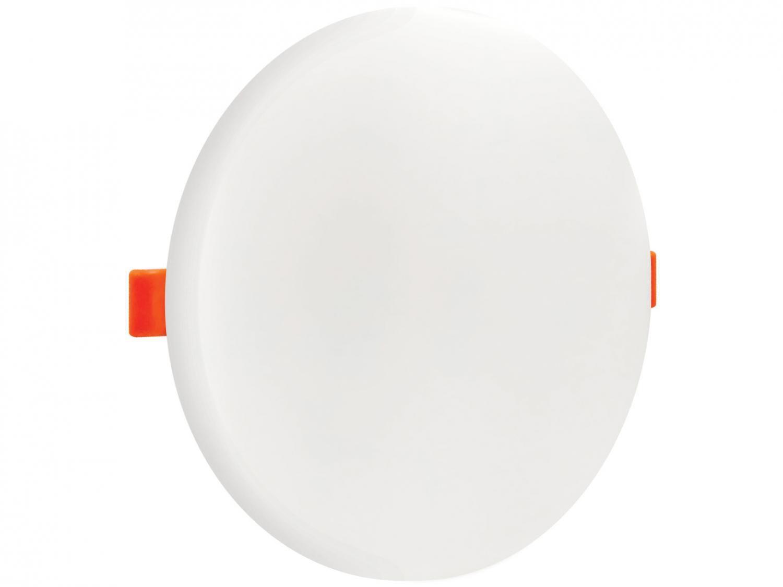 Plafon LED de Embutir e Sobrepor Redondo - 24W Black+Decker 2x1 Borda Infinita Branco