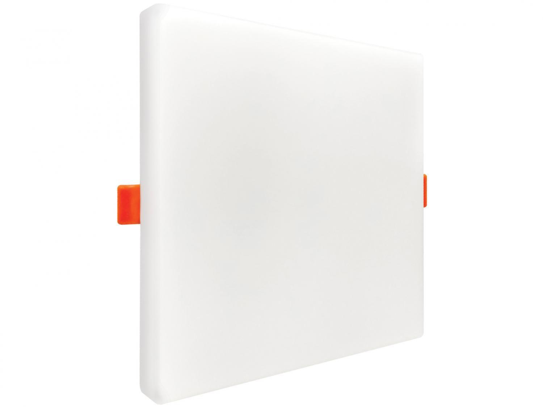 Plafon LED de Embutir e Sobrepor Quadrado - 32W Black+Decker 2x1 Borda Infinita Branco