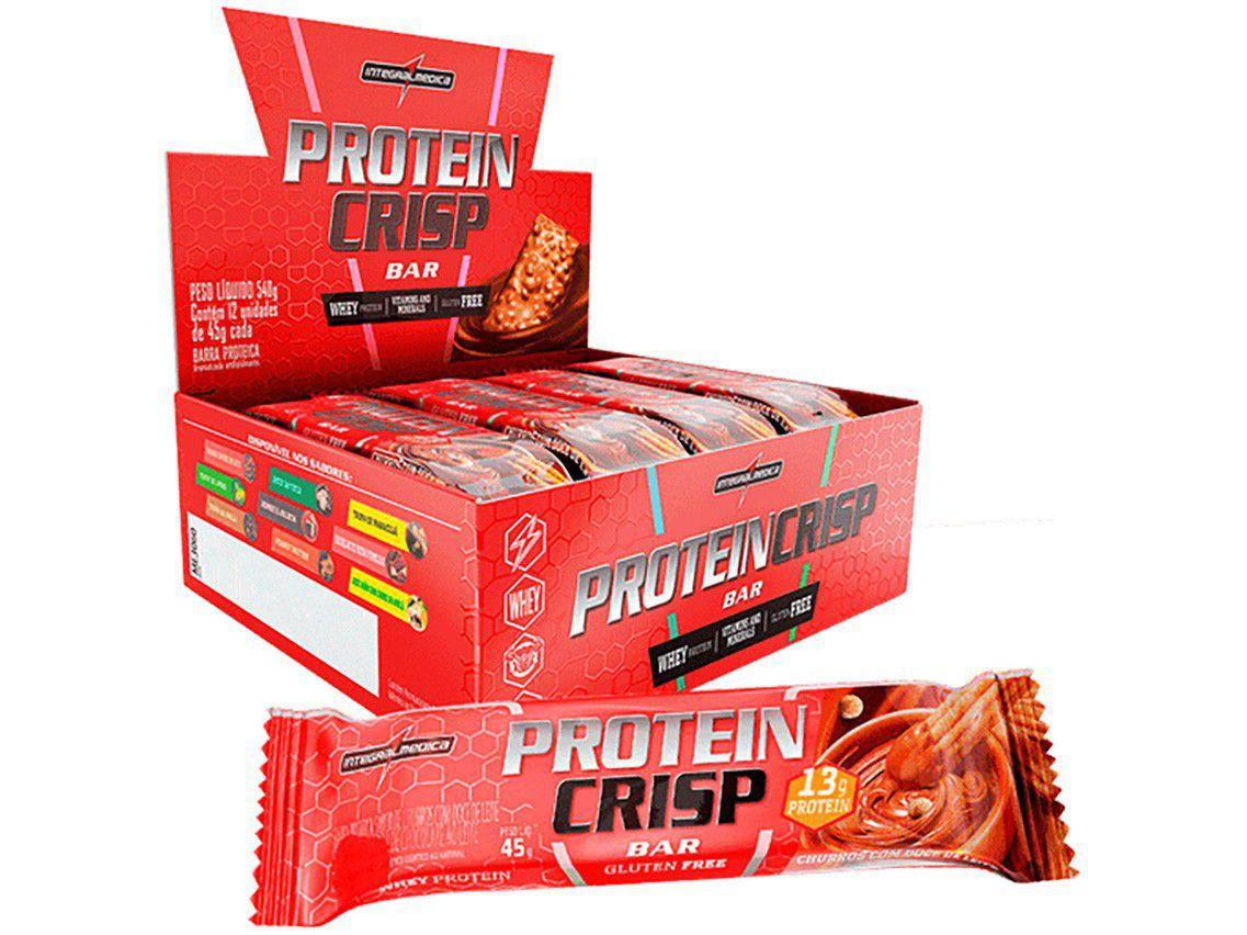 Barra de Proteína Integralmédica Protein Crisp - Bar Churros Natural 45g cada 12 Unidades