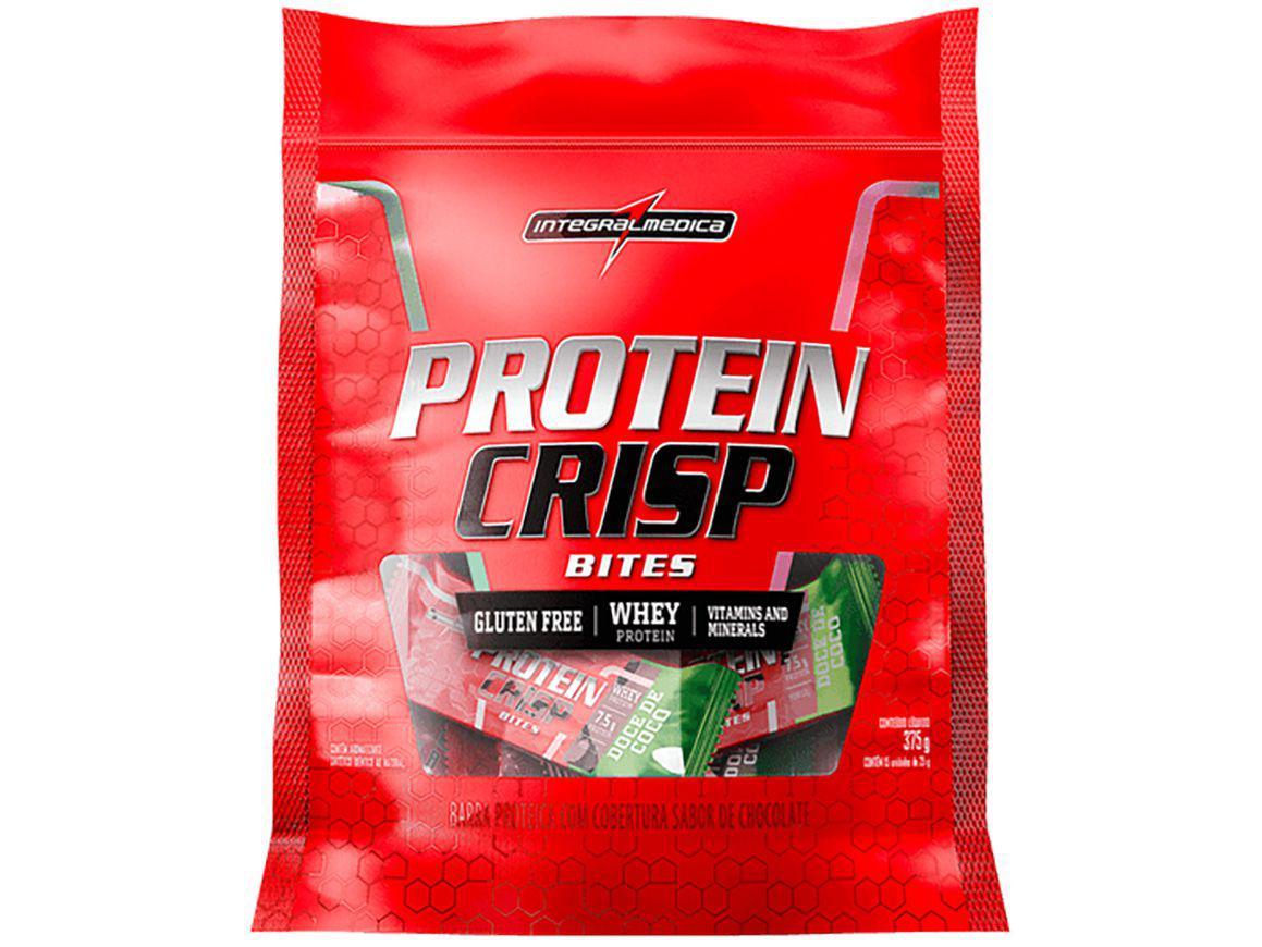Barra de Proteína Integralmédica Protein Crisp - Bites Doce de Coco Natural 25g cada 15 Unidades