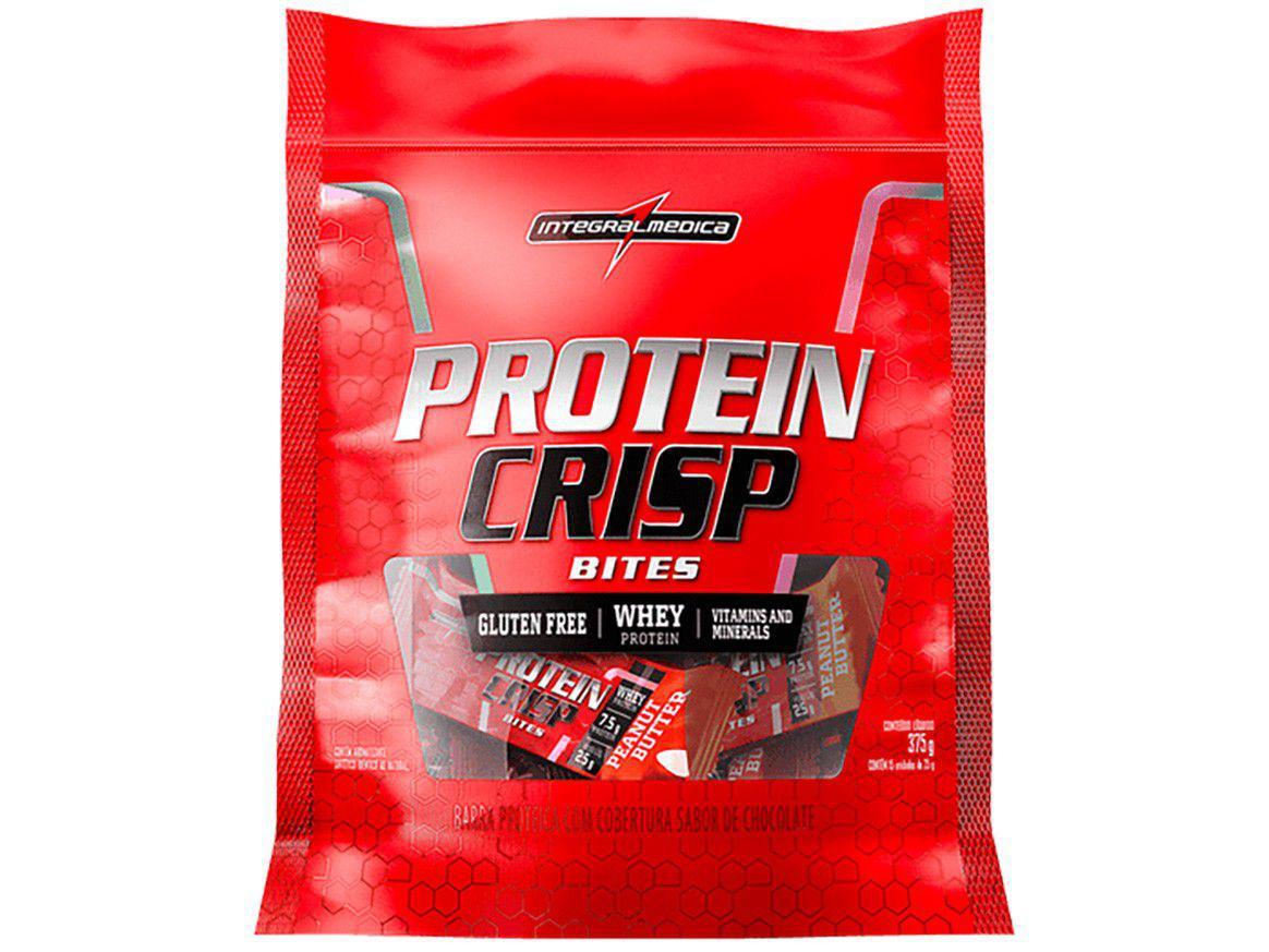Barra de Proteína Integralmédica Protein Crisp - Bites Peanut Butter Natural 25g cada 15 Unidades