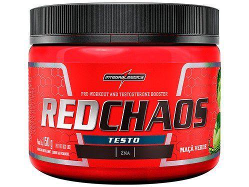 Pré Treino Integralmédica Red Chaos Testo - em Pó 150g Maçã Verde Natural