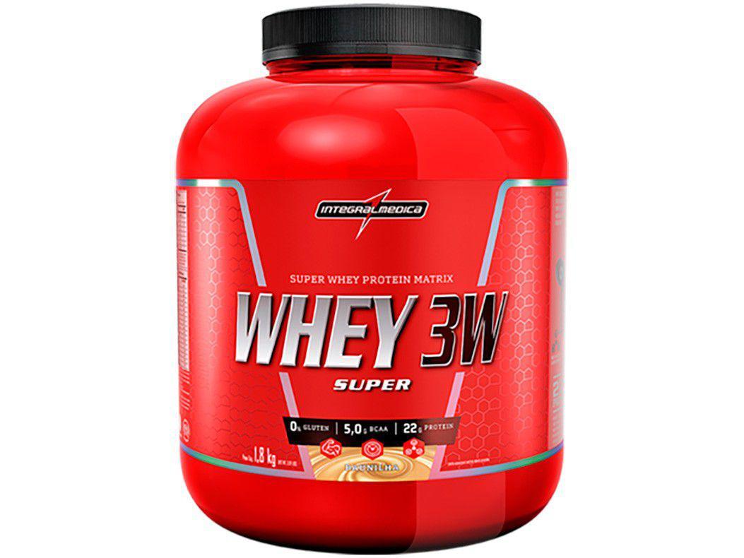 Whey Protein Concentrado Isolado Hidrolisado - Integralmédica 3W Super 1,8kg Baunilha sem Açúcar