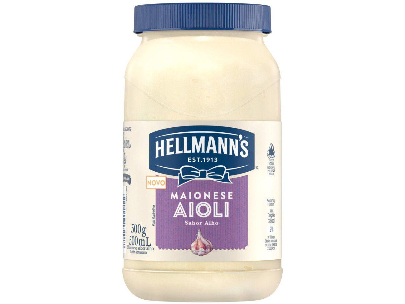Maionese Hellmanns Alho Aioli 500g