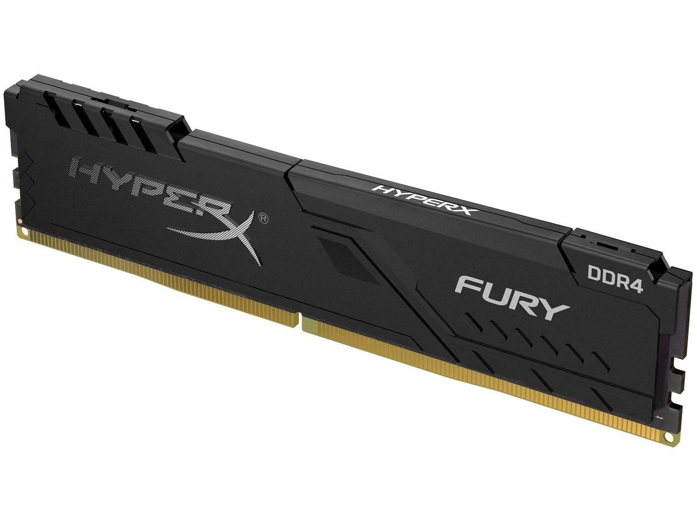 Memória RAM 8GB DDR4 HyperX Fury - 2666Mhz com Dissipador