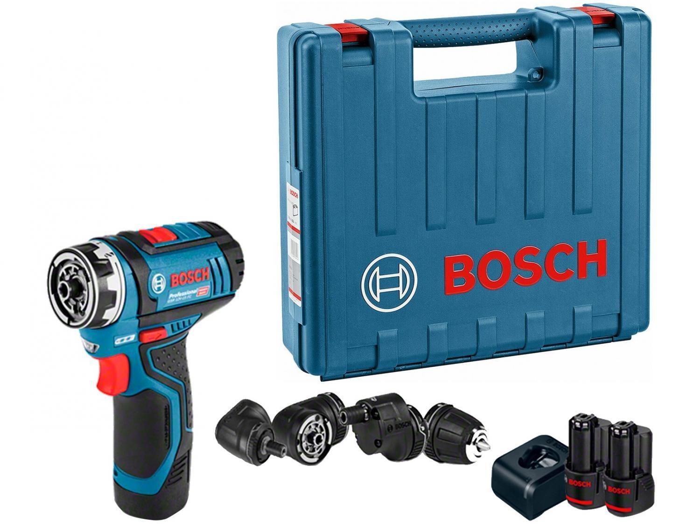 """Furadeira e Parafusadeira a Bateria Bosch 12V - Velocidade Variável 3/8"""" com Maleta Heavy Dut"""
