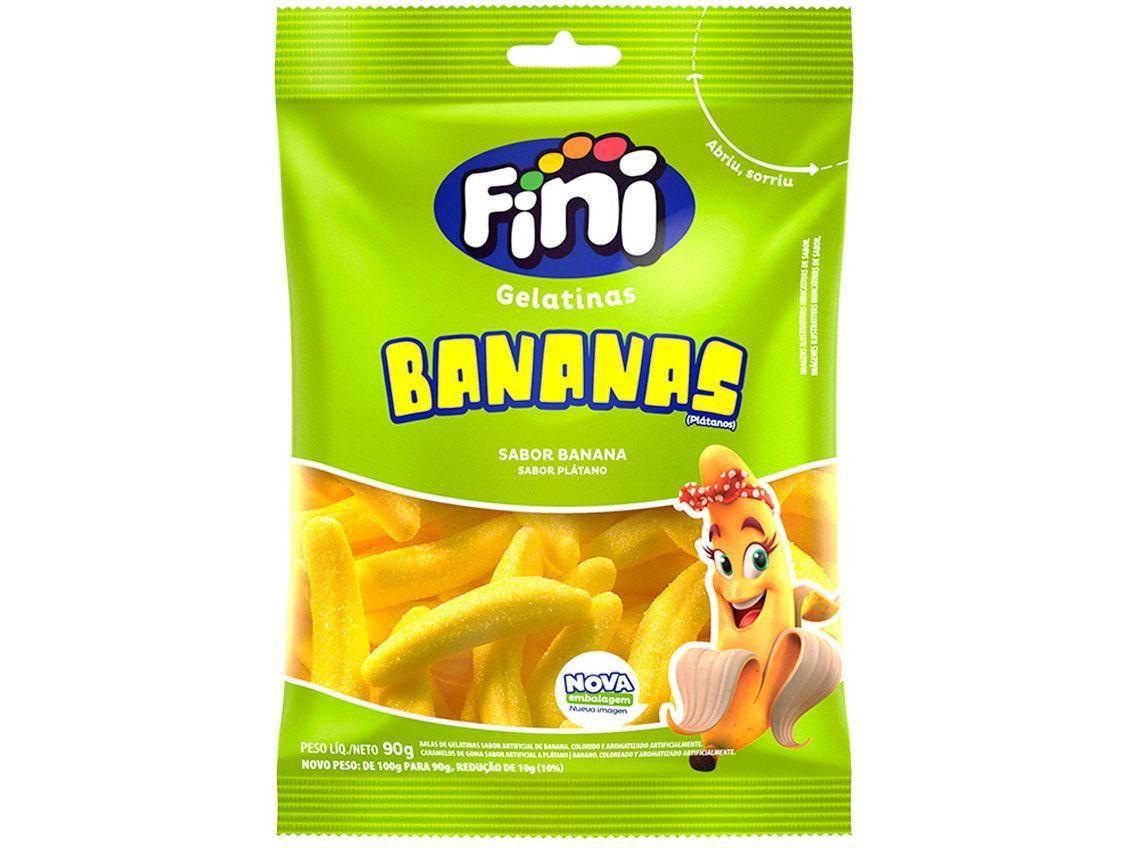 Bala de Gelatina Fini Bananas 90g Pacote