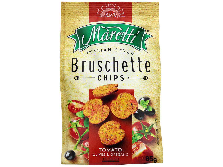 Torrada Salgada Maretti Tomate Azeitona e Orégano - Bruschette Chips 85g