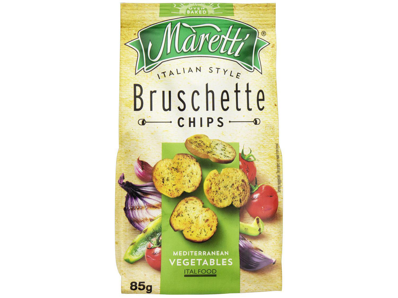 Torrada Salgada Maretti Vegetais Mediterrâneos - Bruschette Chips 85g