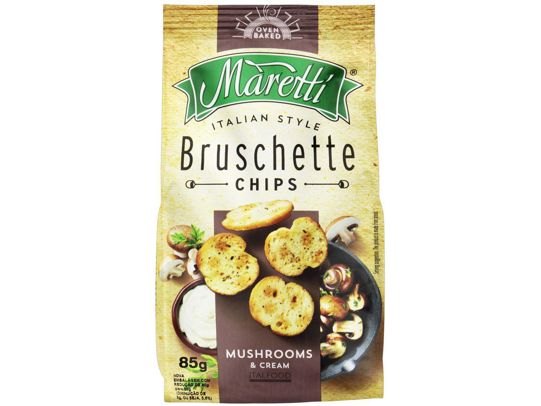 Torrada Salgada Maretti Cogumelos e Creme - Bruschette Chips 85g