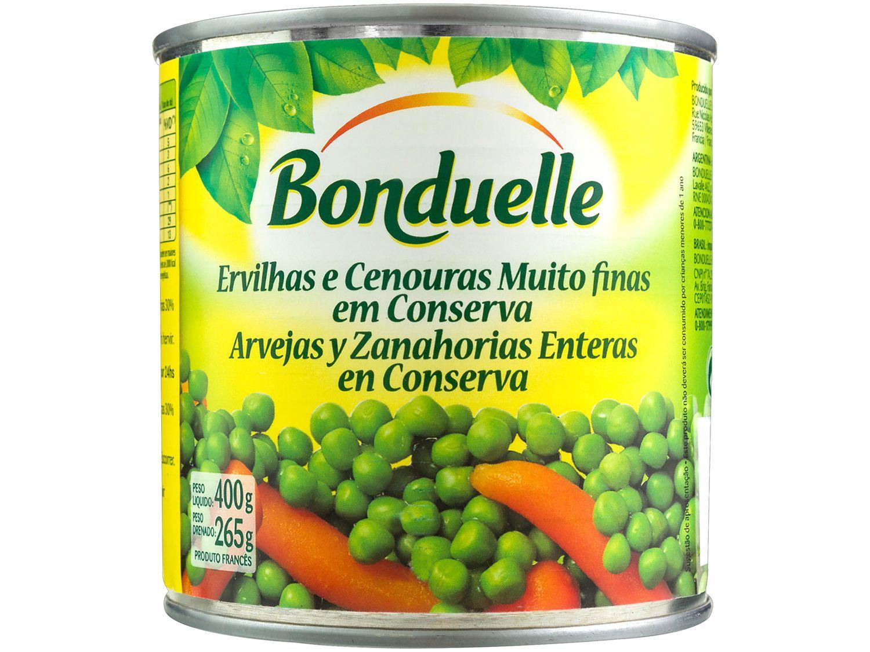 Ervilha e Cenoura em Conserva Bonduelle Lata 400g