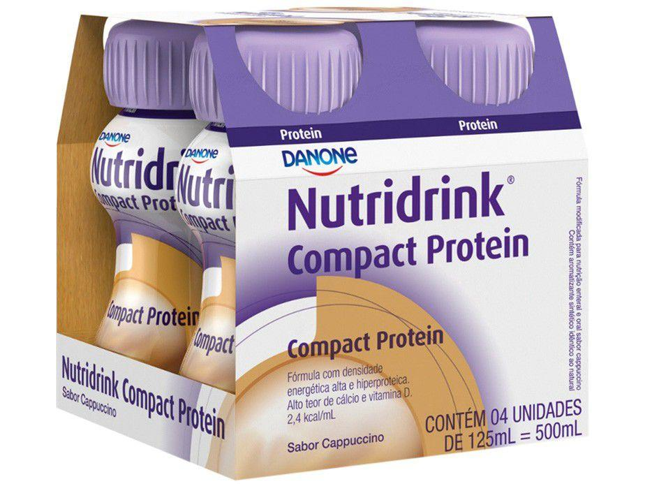 Suplemento Nutricional Nutridrink Compact Protein - Capuccino Integral 125ml cada 4 Unidades