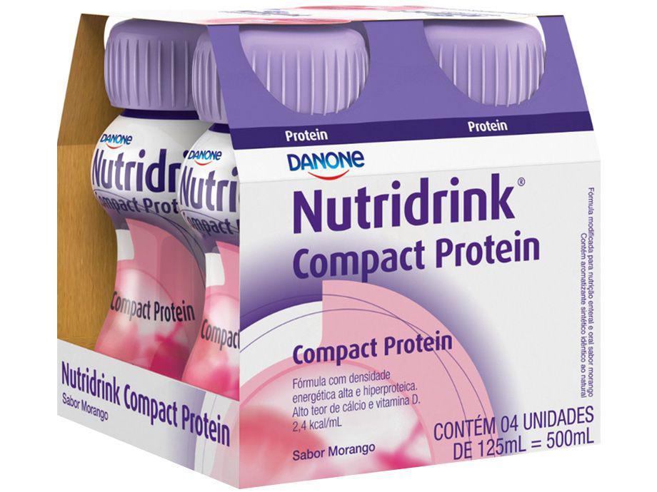 Suplemento Nutricional Nutridrink Compact Protein - Morango Integral 125ml cada 4 Unidades