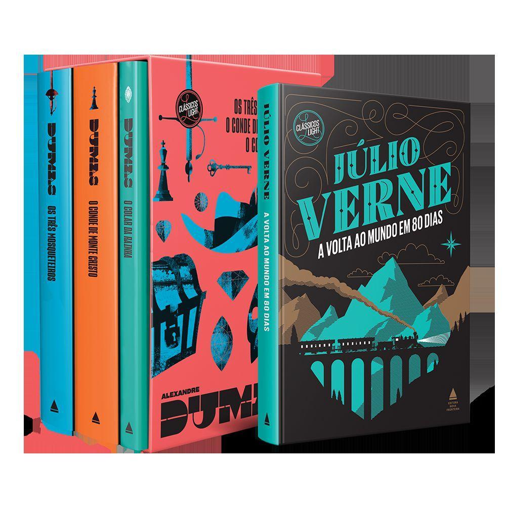 Livro - Kit Box Alexandre Dumas + A Volta ao Mundo