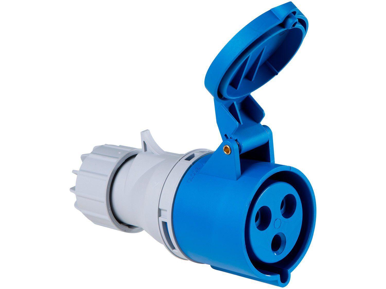 Tomada Industrial de Acoplamento 2P + T 32A - 220V Tramontina Eletrik