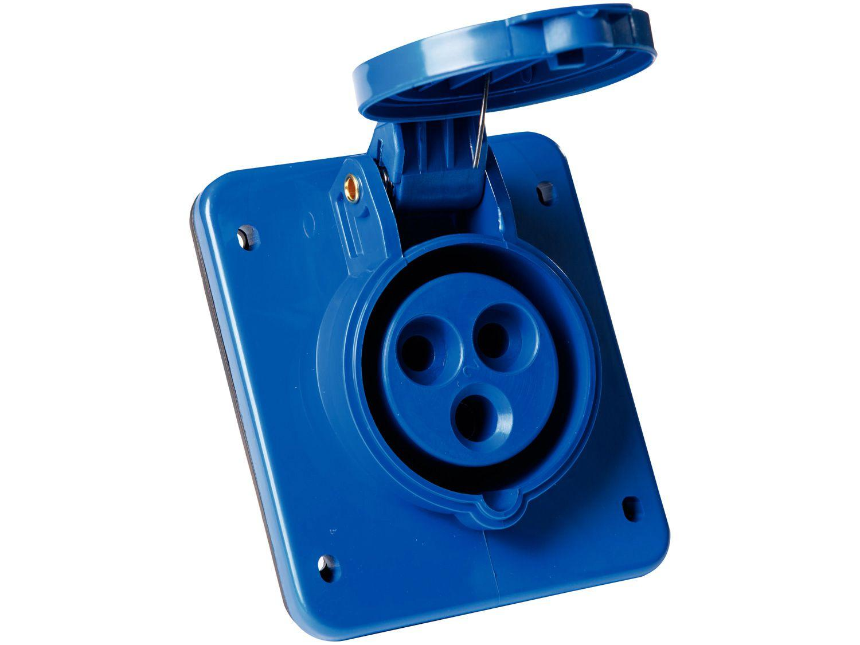 Tomada Industrial de Embutir 2P + T 16A - 220V Tramontina Eletrik