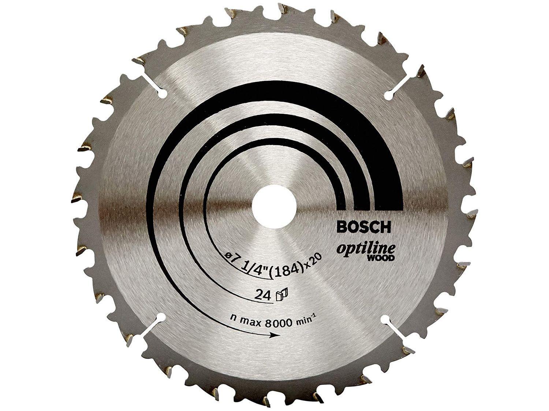 Disco de Serra Circular 184x20mm 24 Dentes - para Madeira Bosch Optiline Wood