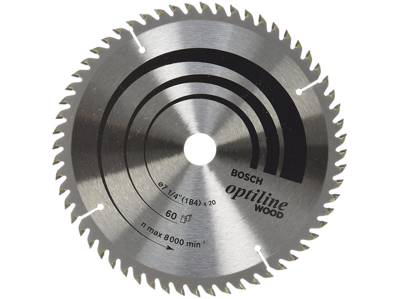 Disco de Serra Circular 184x20mm 60 Dentes - para Madeira Bosch Optiline Wood