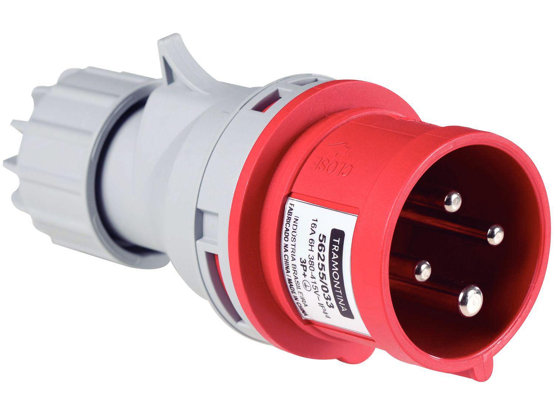Plug Móvel Industrial 3P+T 16A 380-415V 6h - Tramontina