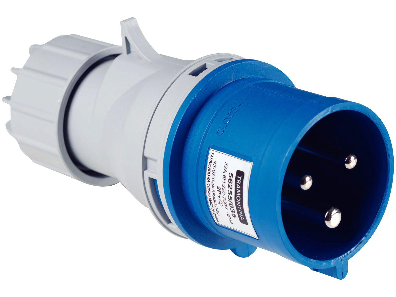 Plug Móvel Industrial 2P+T 32A 220-250V - 6h Tramontina Eletrik