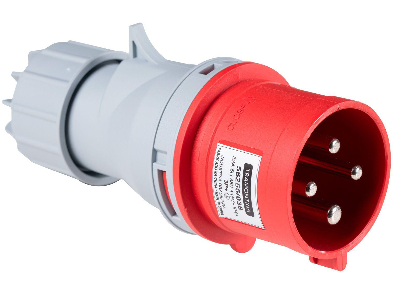 Plug Móvel Industrial 3P+T 32A 380-415V - 6h
