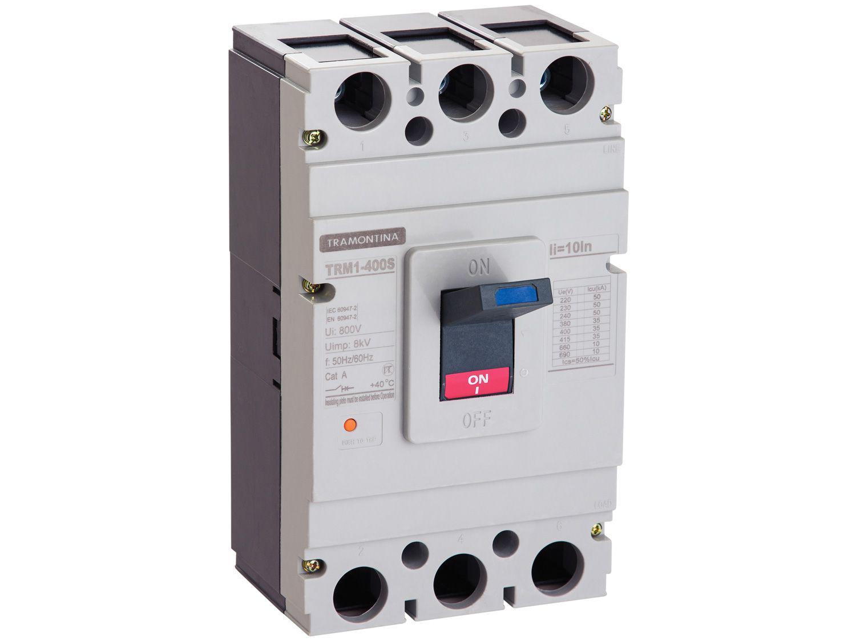 Disjuntor Caixa Moldada Tripolar Tramontina - TRM1 400S 3P 315A 35-50KA