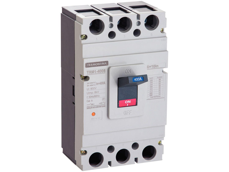Disjuntor Caixa Moldada Tripolar Tramontina - TRM1 400S 3P 400A 35-50KA