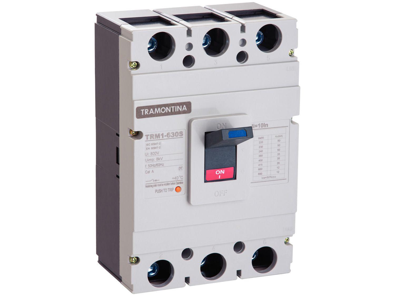 Disjuntor Caixa Moldada Tripolar Tramontina - TRM1 630S 3P 500A 35-50KA