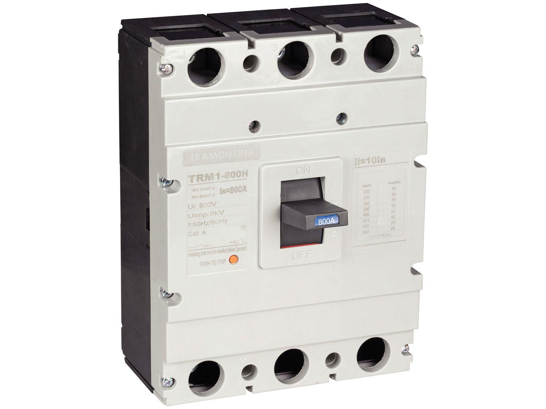 Disjuntor Caixa Moldada Tripolar Tramontina - TRM1 800H 3P 800A 60-85KA