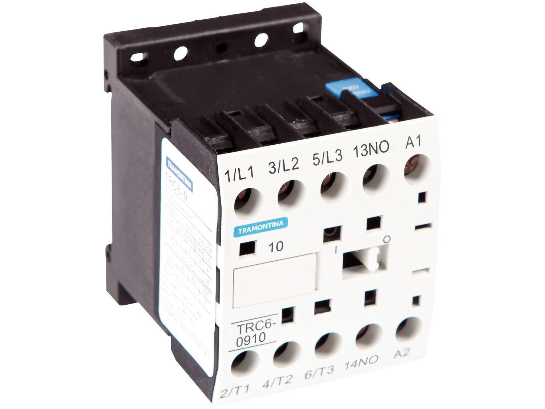 Mini Contator Tripolar Tramontina TRC6-0910 - 9A 220VCA 50/60Hz 1NA