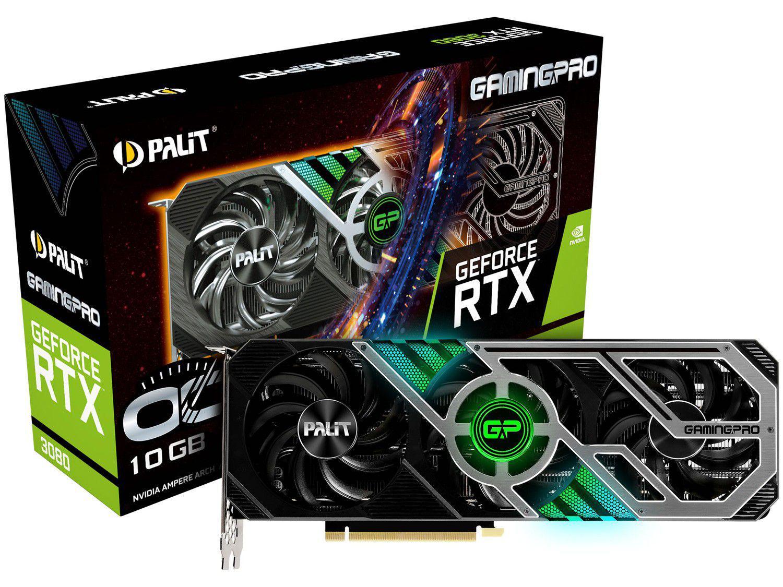 Placa de Vídeo Palit GeForce RTX 3080 10GB - GDDR6X 320 bits GamingPro OC