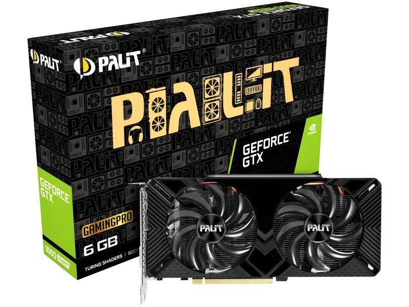 Placa de Vídeo Palit GeForce GTX 1660 - 6GB GDDR6 192 bits Gaming Pro Super