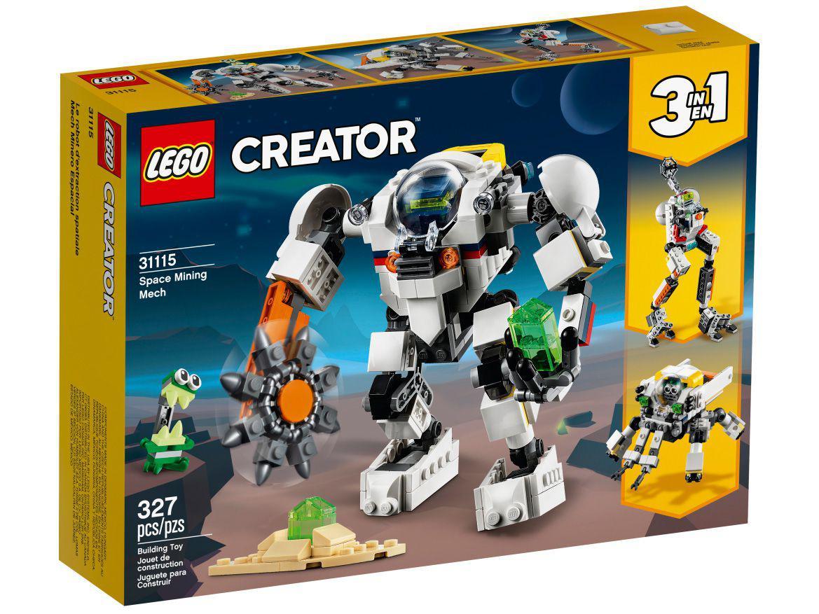 LEGO Creator Robô de Mineração Espacial 327 Peças - 31115