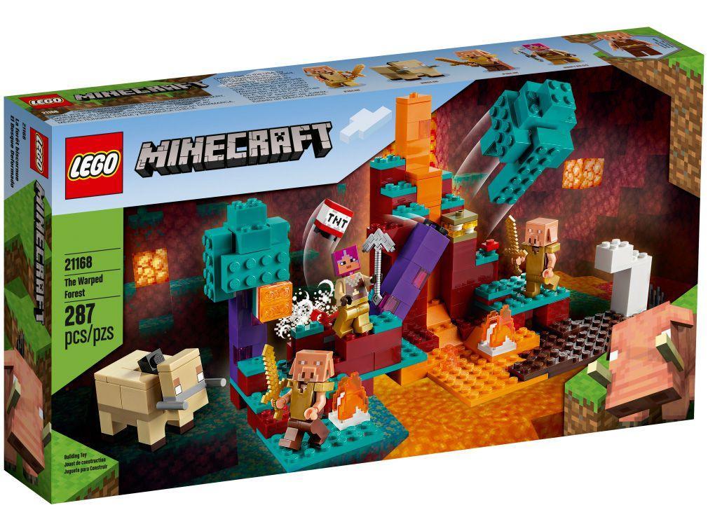 LEGO Minecraft A Floresta Deformada 287 Peças - 21168
