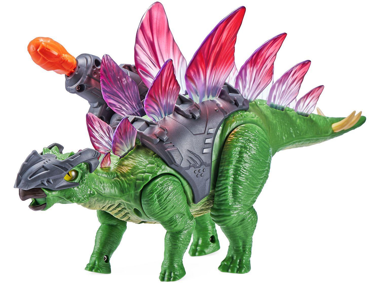 Dinossauro Zuru Robo Alive Dino Wars Stegosaurus - Emite Som com Acessório Candide