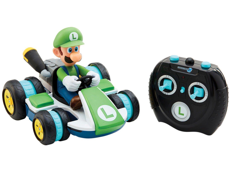Carrinho de Controle Remoto Super Mario - Nintendo Luigi Racer 8 Funções Candide