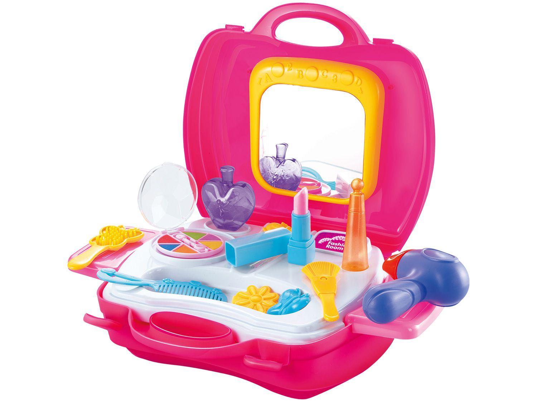 Kit Salão de Beleza de Brinquedo - Maquiadora Kid Candide 19 Peças