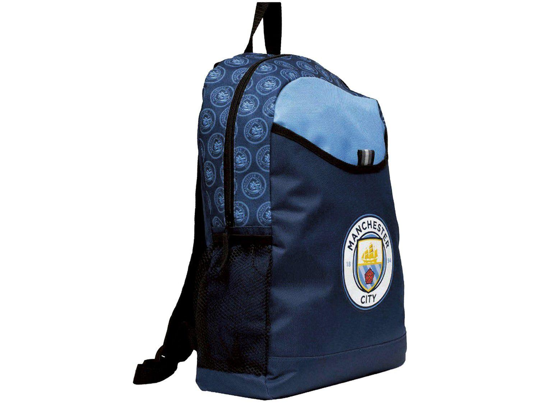 Mochila Escolar Maccabi Art 14L Manchester City - Time de Futebol Azul