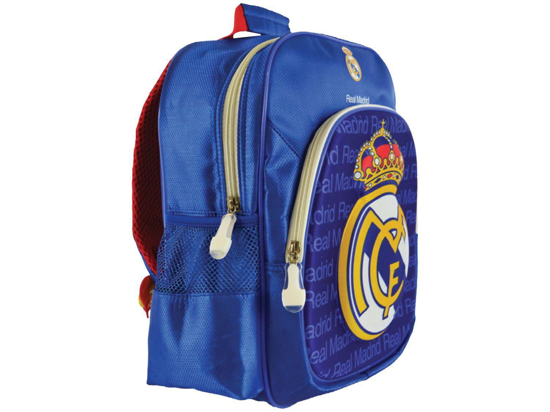 Mochila Infantil Escolar Maccabi Art 7,5L - Real Madrid Time de Futebol Azul