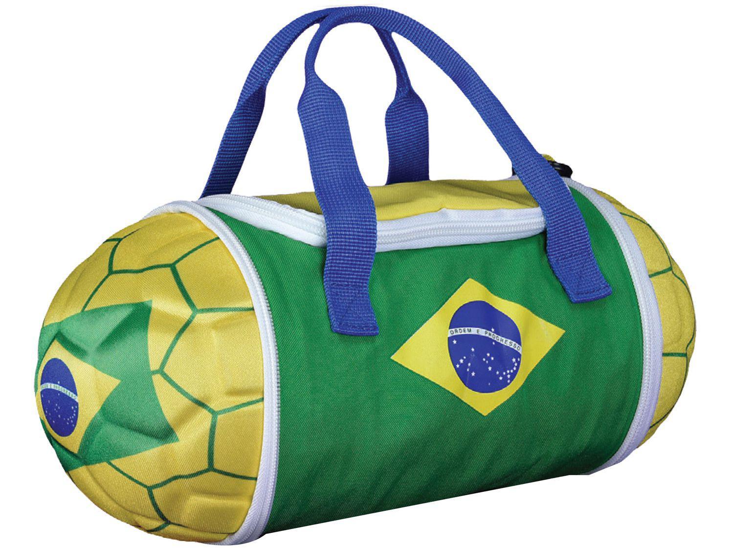 Bolsa Térmica Maccabi Art 4,7L Brasil - Verde e Amarelo