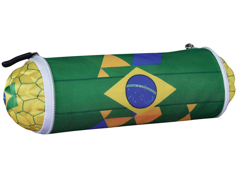 Estojo Escolar Bola Brasil Maccabi Art - Verde e Amarelo