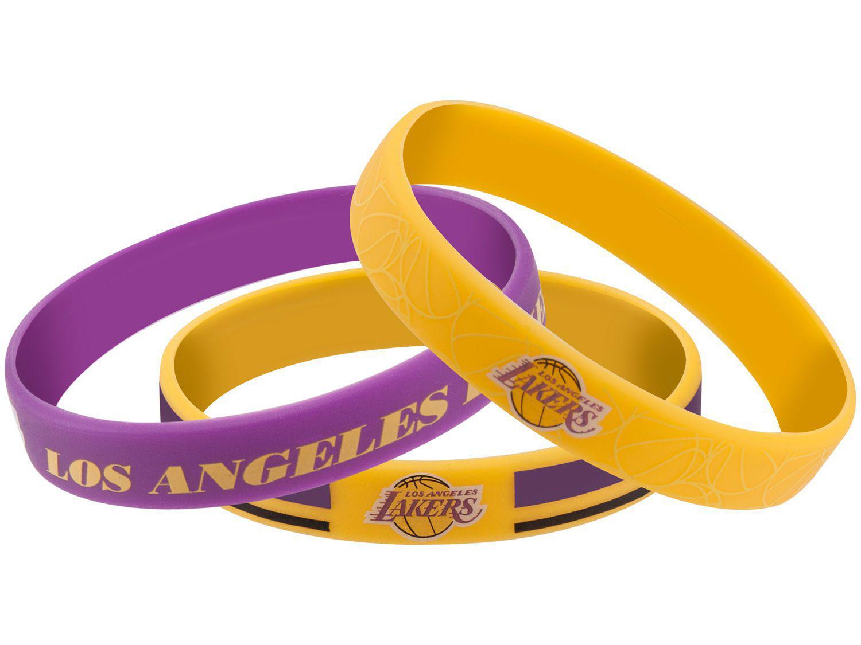 Pulseira de Silicone Maccabi Art - Los Angeles Lakers 3 Unidades