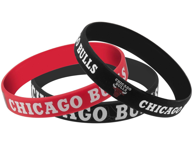 Pulseira de Silicone Maccabi Art Chicago Bulls - 3 Unidades