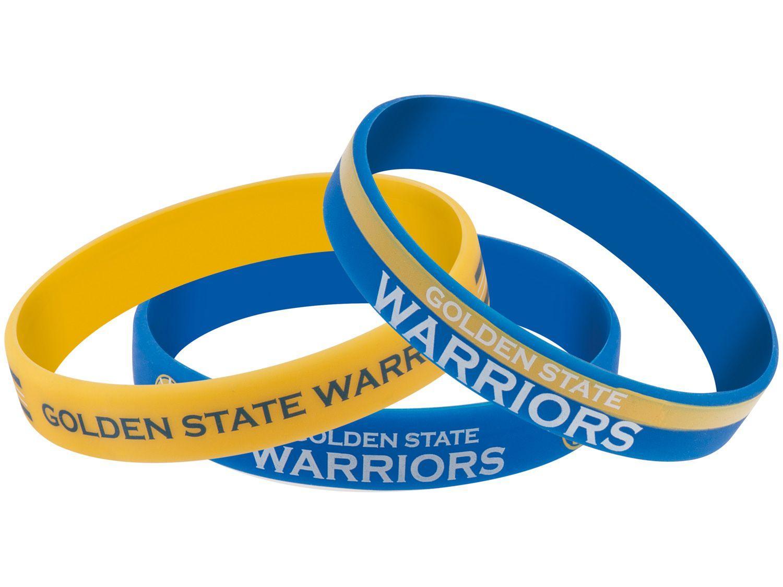 Pulseira de Silicone Maccabi Art - Golden State Warriors 3 Unidades